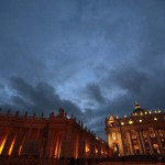 A general view of Saint Peter's Square at the Vatican