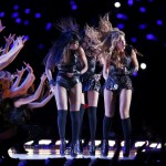 Beyonce, Williams, and Rowland of the former group Destiny's Child perform in the NFL Super Bowl XLVII football game in New Orleans