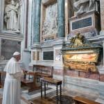 VATICAN-POPE-PRAYER-SANTA MARIA MAGGIORE