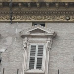 Windows of Papal private apartment are seen closed at the Vatican