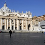 Cardinal Francis Arinze of Nigeria walks in St.Peter square in Vatican