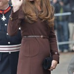Britain's Catherine, Duchess of Cambridge arrives at the National Fishing Heritage Centre in Grimsby in northern England