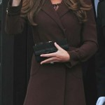 Britain's Catherine, Duchess of Cambridge waves as she leaves the National Fishing Heritage Centre in Grimsby, in northern England