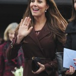 Britain's Catherine, Duchess of Cambridge waves to well-wishers outside the National Fishing Heritage Centre in Grimsby, in northern England