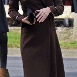 Britain's Catherine, Duchess of Cambridge arrives for a visit to Peaks Lane fire station in Grimsby, northern England