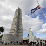 People line up to attend a tribute in honor of late President Hugo Chavez at Cuban independence hero Jose Marti's memorial in Havana