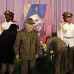 Revolution Commander Valdes attends tribute in honor of late President Hugo Chavez at Cuban independence hero Jose Marti's memorial in Havana