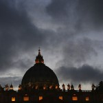 Saint Peter's Basilica is pictured at the Vatican