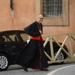 Cardinal John Tong Hon of China arrives for a meeting at the Vatican