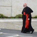 Cardinal Marx of Germany arrives for a meeting in the Synod Hall at the Vatican