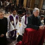 Cardinal Jorge Urosa Savino of Venezuela prays before a Mass in honor of the late Venezuelan President Hugo Chavez in Rome