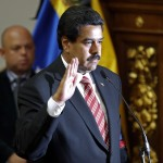 Venezuelan Vice President Maduro is sworn in as caretaker president following the death of President Chavez in Caracas