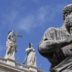 St. Peter's statue is seen at the Vatican