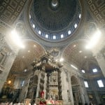 Cardinals attend a mass in St. Peter's Basilica at the Vatican