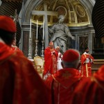 Cardinal Angelo Sodano leads mass in St. Peter's Basilica at the Vatican