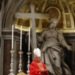 Cardinal Angelo Sodano leads a mass in St. Peter's Basilica at the Vatican