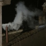 White smoke rises from the chimney above the Sistine Chapel indicating a new pope has been elected at the Vatican