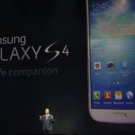 Shin, President and head of IT and Mobile Communication Division, introduces Samsung Electronics Co's latest Galaxy S4 phone during its launch in New York