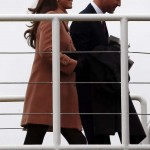 Britain's Prince William and Catherine, Duchess of Cambridge arrive at the Cheltenham Festival horse racing meet in Gloucestershire