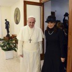 Newly elected Pope Francis meets Argentina's President Cristina Kirchner at the Vatican
