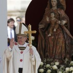 Pope Francis takes part in his inaugural mass in Saint Peter's Square at the Vatican