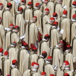 Cardinals attend the inaugural mass of Pope Francis in Saint Peter's Square at the Vatican