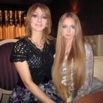 Otra foto con su mamá