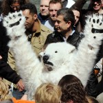 FRANCE-GREENPEACE-ARCTIC-MANIF