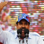 Venezuela's acting President and presidential candidate Nicolas Maduro speaks to supporters during a campaign rally in the state of Barinas