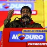 Venezuela's presidential candidate Maduro speaks during a campaign rally in Caracas