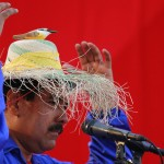 Venezuela's acting President and presidential candidate Maduro wears a hat during a campaign rally in Vargas