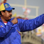 Venezuela's acting President and presidential candidate Maduro greets supporters during a campaign rally in Vargas