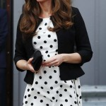 Britain's Catherine, Duchess of Cambridge, arrives for a visit to the Warner Bros. Studios at Leavesden in southern England