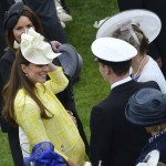 Britain's Catherine, Duchess of Cambridge attends a garden party at Buckingham Palace in London