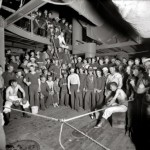 Boxeo en el USS Oregon, 1879