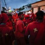 "The ""Diablos Danzantes"" of Yare dance to mark the Feast of Corpus Christi in San Francisco de Yare"
