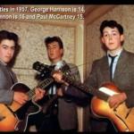 Los Beatles en 1957