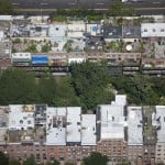 Chelsea, Manhattan: Multiple private rowhouse rooftops in Chelsea.