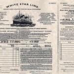 Un pase de abordaje del Titanic