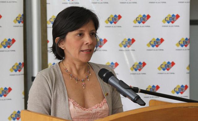 Sandra Oblitas, vicepresidenta del CNE / Foto Archivo