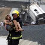 un tren que descarriló en Santiago de Compostela, España, causando la muerte de 78 personas (Foto AFP)