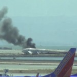 A YouTube video grab shows an Asiana Airlines Boeing 777 aircraft after it crashed while landing at San Francisco International Airport in California