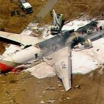 An Asiana Airlines Boeing 777 is pictured after it crashed while landing in this KTVU image at San Francisco International Airport