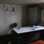 "Portraits of former leader Kim Jong-il and former president Kim Il-sung are seen in one of the rooms inside a North Korean flagged ship ""Chong Chon Gang"" docked at the Manzanillo Container Terminal in Colon City"