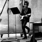 Bob Dylan Recording in Studio