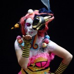 A model poses during the annual World Bodypainting Festival in Poertschach