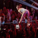 Singer Miley Cyrus performs
