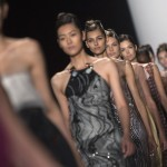 Models present creations from the Carolina Herrera Spring/Summer 2014 collection during New York Fashion Week