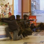 Soldiers and armed police hunt gunmen who went on a shooting spree in Westgate shopping centre in Nairobi