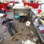 Dead bodies lie at Westgate Shopping Centre in Nairobi